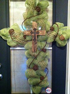 Gorgeous cross wreath