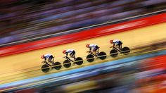 Great Britain post a new world record time during men's Team Pursuit Track Cycling Qualifying on Day 6 of the London 2012 Olympic Games at the Velodrome
