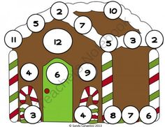 FREE Gingerbread House - Roll, Spin, and Cover Games from Sweet Integrations...With a Taste of Technology on TeachersNotebook.com (10 pages)  - FREE: FUN HOLIDAY FREEBIE  During the holiday season, students will enjoy playing these fun games. I've provided a variety of games for differentiation. - Spin and cover candy on the gingerbread house - Roll, count and cover circles on the gingerbrea