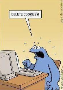 Cookie Monster is soooo confused by technology.