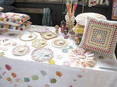 Emma Lamb's booth @ Selvedge Spring Fair