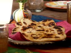 Naan: Indian Oven-Baked Flat Bread Recipe : Food Network - FoodNetwork.com