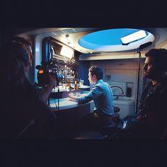 """Lights, camera, cocktail!"" Ben Feldman filming at the longest bar in the sky."