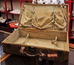 Suitcase from the Titanic. Many artifacts were preserved due to being in leather suit cases
