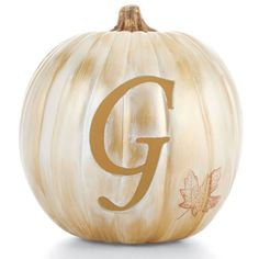 Customize a craft pumpkin for the fall holidays by carving your initial into it! Add paint to match your decor.