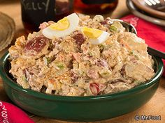 Ranch Potato Salad - This potluck recipe favorite is perfect for all of your summer parties, including the 4th of July, Memorial Day, Labor Day, and more!