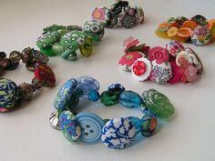 Button Bracelets - so cute!