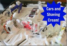 Cars and Shaving Cream... Christi may kill me, but it sounds FUN!