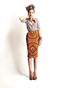 Stella Jean Collection. The skirt.