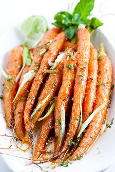 roasted cumin-lime carrots