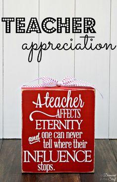 DIY Teacher Appreciation Gifts www.adiamondinthestuff.com