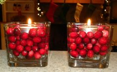 Cranberry Votives