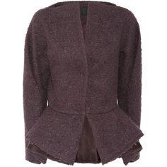 Haider Ackermann Bouclé wool-blend peplum jacket - Polyvore