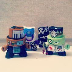 Some new friends. #kidrobot #fatcap #vinyl #toys