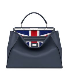 In occasion of the new flagship store's opening in London, Fendi created a Peekaboo special edition featuring the Union Jack flag