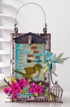 That's Life: Simon Says Stamp Monday Challenge ~ Winged Things featuring Sizzix and Tim Holtz