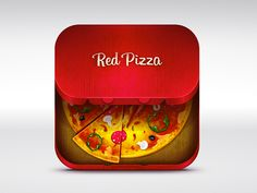 Dribbble - Red Pizza icon by Red Collar