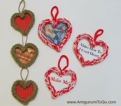 How To Make An I-Cord Heart Video Tutorial ~ Amigurumi To Go