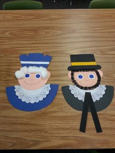 George Washington and Abraham Lincoln - President's day craft