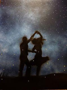 Dancers silhouette...