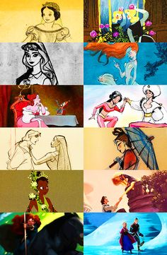 Disney Concept Art. Amazing how some look the same and some look completely different.