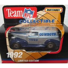 Dallas Cowboys 1992 NFL Diecast Sedan 1:63 Scale Collectible Limited Edition Football Team Car By White Rose Matchbox by NFL   $45.49