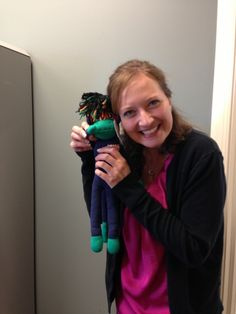 Look who arrived in the mail today! This is my little office buddy, NoMo. Give someone you love with #cancer a SMAC! monkey for some love & comfort through their journey. Order here: http://smacmonkey.com/ #SMACancer