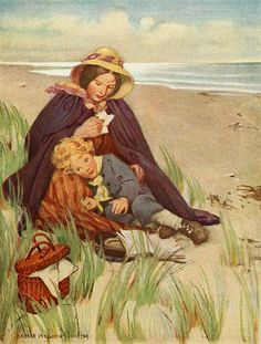 Jessie Willcox Smith illustration from 'At the Back of the North Wind'.