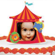 cake idea, birthday parties, circus parti, cake toppers