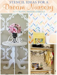 Create a dream nursery with stencils from Royal Design Studio