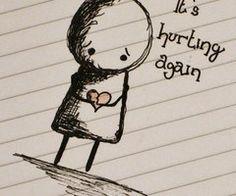 drawings, life, heart, hurt, sad