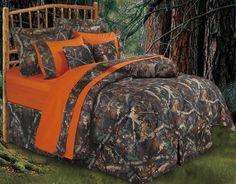 Oak Camo Bedding Ensemble   Camoflauge Comforter Sets and Crib Sets   PaulsHomeFashions.com