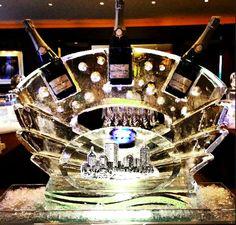 Beautiful & unique champagne ice sculpture #WeddingWednesday