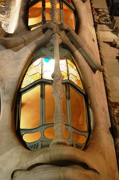 Window in Casa Batlló, Barcellona, designed by Antoni Gaudi
