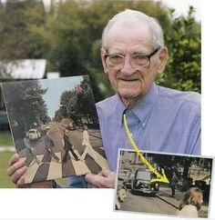 album covers, this man, photobomb, iconic photos, funni, beatl, abbey road, abbeyroad, roads