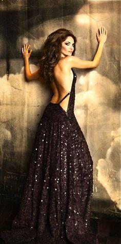 Roberto Cavalli ... sexy, sparkly black evening gown