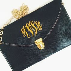 The Perfect Accessory!! Monorgammed Luxe Clutch- Marley Lilly