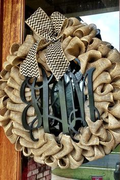 Burlap Wreath - Etsy Wreath - Fall Wreaths