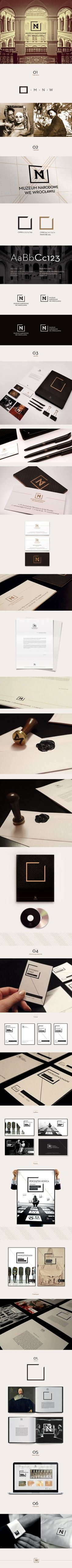 Identity System of Museum National in Wroclaw by Milena Włodarczyk, via Behance