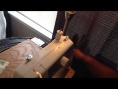 Brother LS-2125 Sewing Machine How To Wind Bobbin & Thread Machine