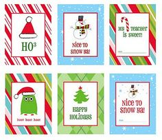 Amazing free printables - gift tags, cards ,treat tags, letters to santa, pictures