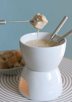Cheese Fondue with Chipotle  Tequila...what could be better then that?