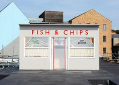 Rooftop fish and chip shop Storefront by Something & Son