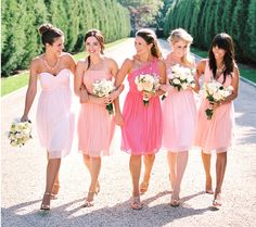 Beautiful bridesmaid dresses in all colors http://rstyle.me/n/jxx75nyg6