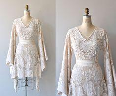 Bohemian Lace wedding dress • lace 1970s dress • vintage 1970s wedding dress