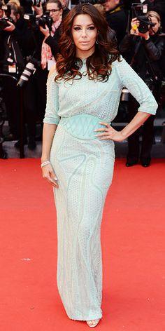 Eva Longoria in Atelier Versace in Cannes 2013