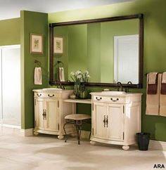 mirror, vaniti, green walls, dream, big bathroom, color, bathrooms, bathroom remodeling, master baths