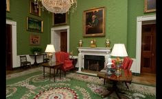 The White House, Green Room, redesigned by Jacqueline Kennedy
