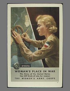"World War II poster ""A Woman's Place During War"""