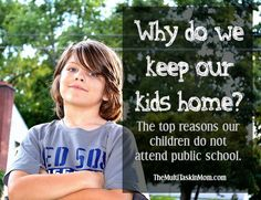 The top reasons our children do not attend public school but stay at home for school.